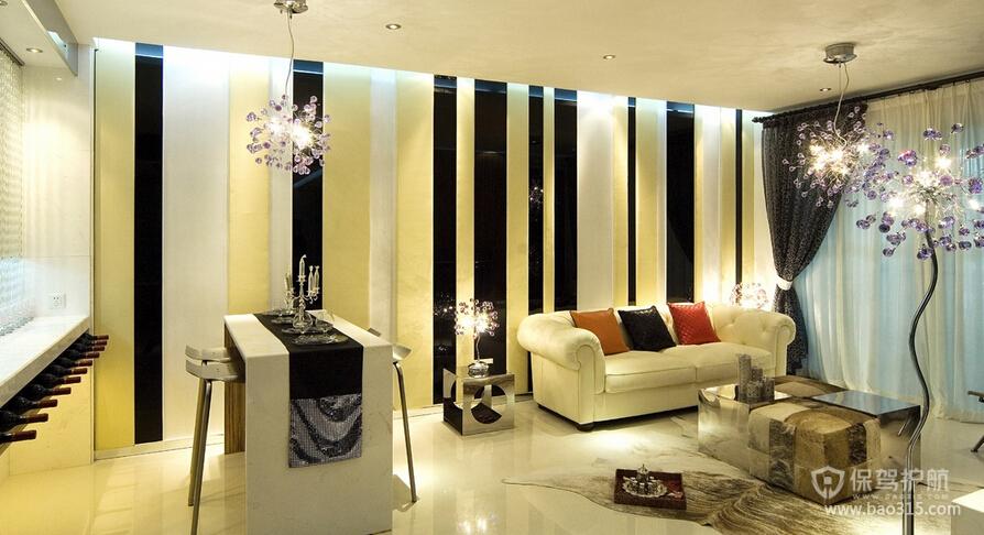 两室一厅现代风格50平客厅创意设计效果图
