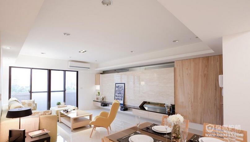 欧式风格公寓70平客厅实木家具搭配效果图