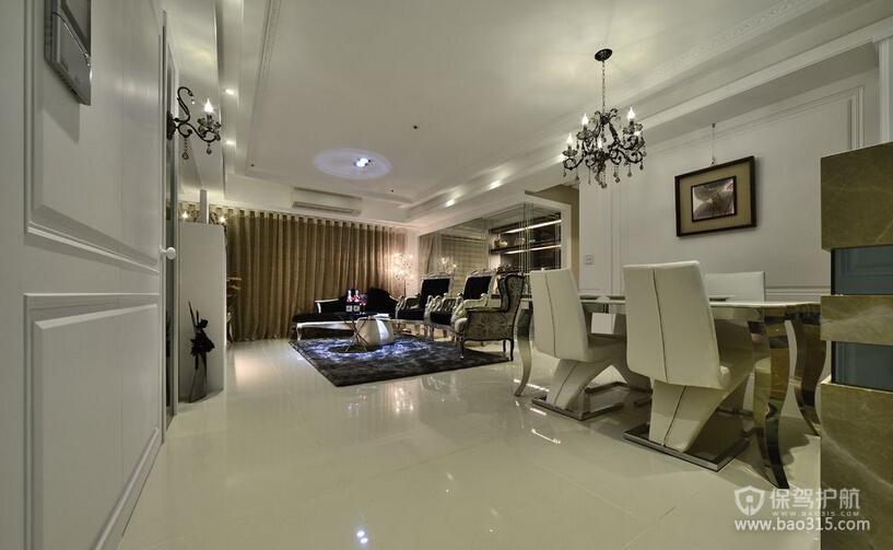三室一厅现代风格客厅简约装修效果图
