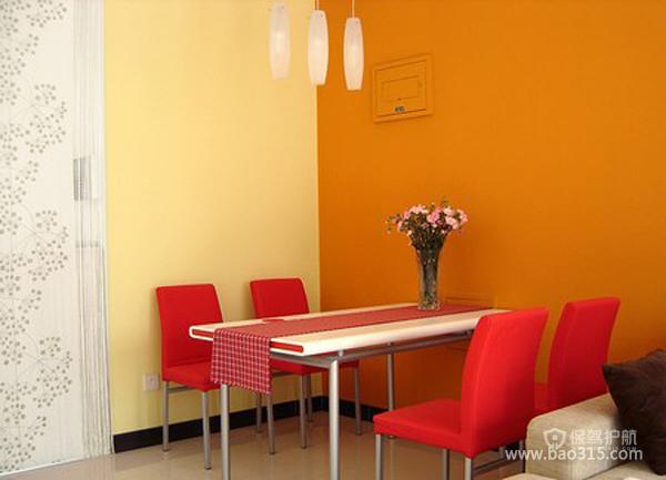 两室两厅现代美式风格餐厅墙面效果图