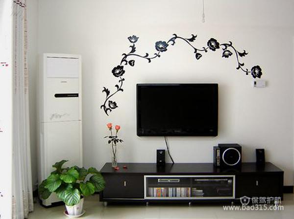 两室一厅简约风格客厅电视背景墙装修效果图