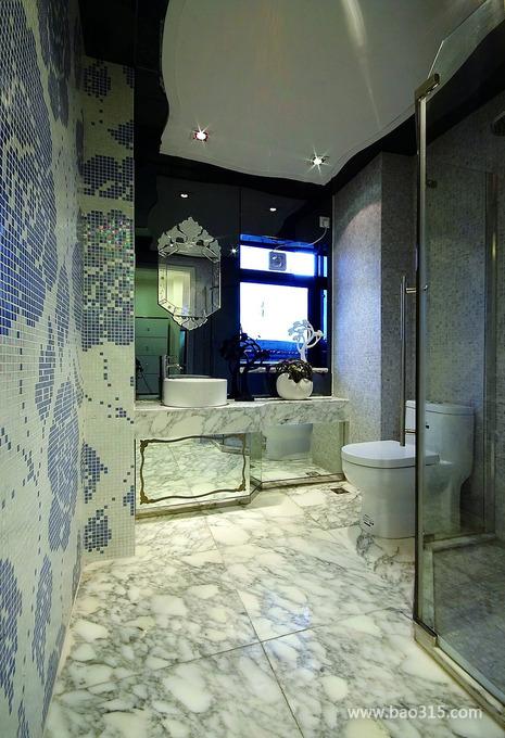 后现代风格别墅40平卫生间创意装修效…