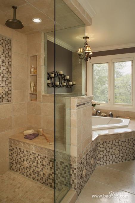 带有古典之感的卫浴装修效果图