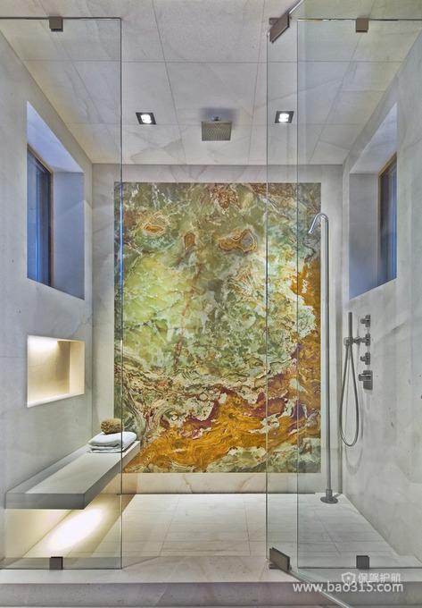 淋浴房背景墙的艺术设计