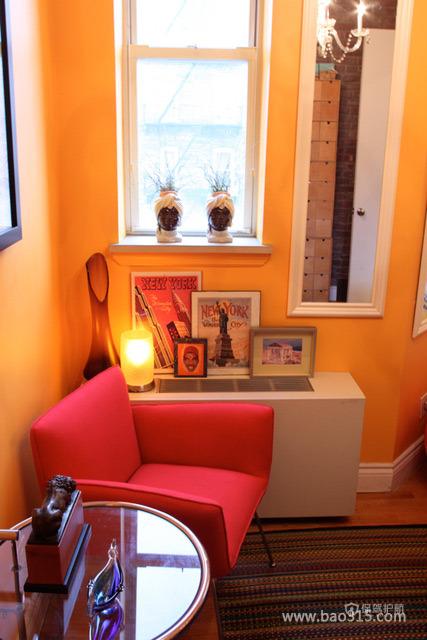 两室一厅美式风格客厅实木地板效果图