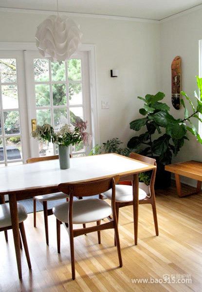 三室一厅田园风格客厅实木家具软装效果图