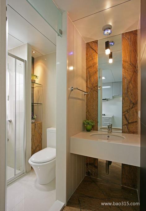欧式风格别墅30平卫生间墙面瓷砖效果…