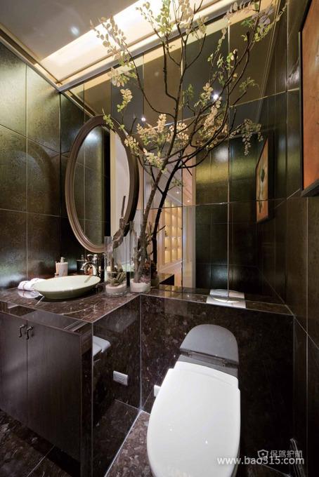 后现代风格别墅卫生间植物装饰效果图