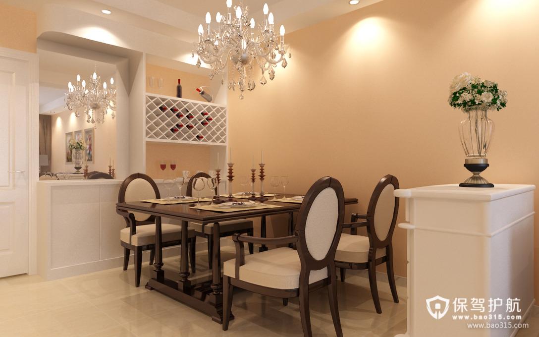 90㎡简约风格餐厅背景墙装修效果图-简约风格餐桌餐椅图片