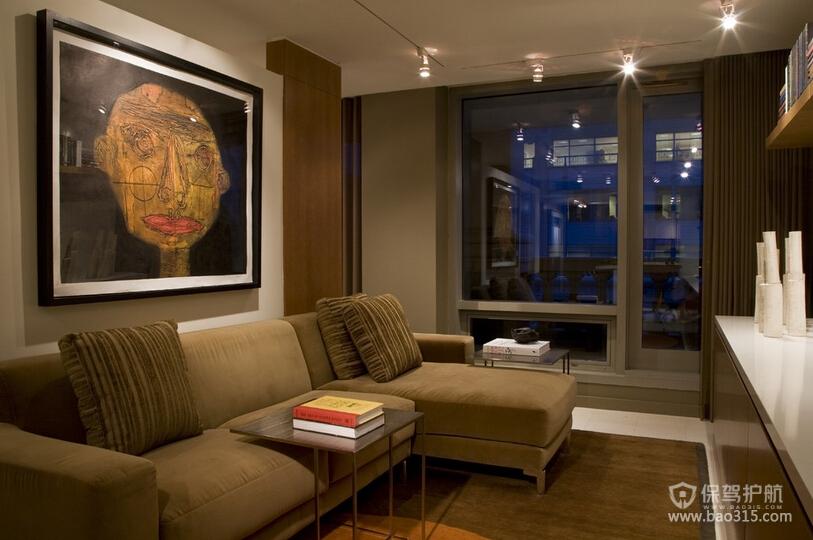 三室一厅后现代风格50平客厅装修效果图