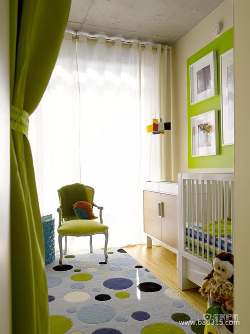 绿色简欧风温馨儿童房装修效果图