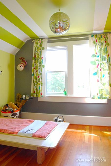 绿色田园风二居室儿童房墙面装修效果图