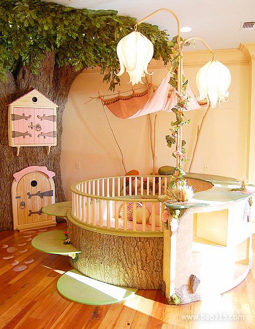 温馨创意绿色田园风儿童房装修效果图