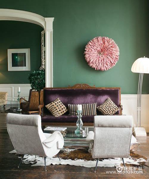 绿色浓郁风味的欧式客厅效果图