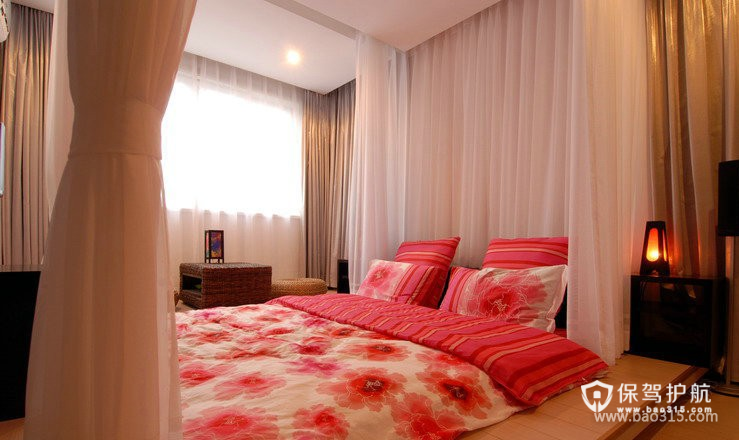 90㎡小户型现代风格卧室装修效果图-现代风格床头柜图片