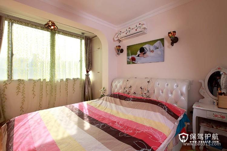 90㎡一居室韩式风格卧室装修效果图-韩式风格梳妆台图片
