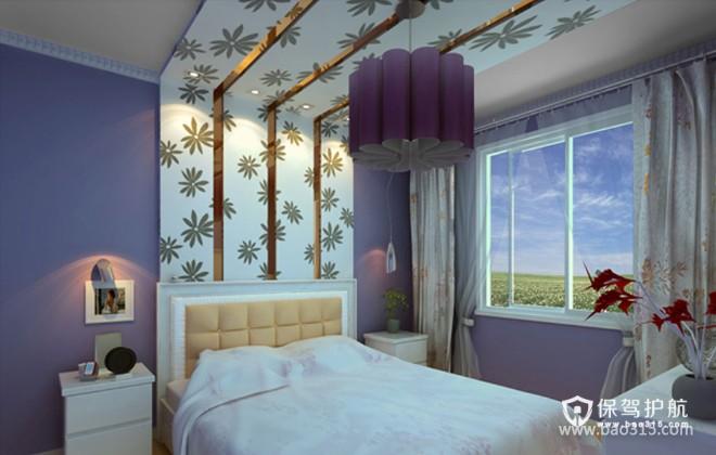 90㎡一居室现代风格卧室背景墙装修效果图-现代风格床头柜图片