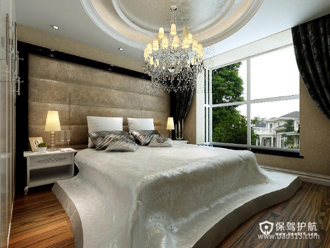 100㎡二居室欧式风格卧室背景墙装修效果图-欧式风格床头灯图片