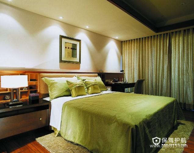 100㎡二居室现代风格卧室吊顶装修效果图-现代风格床头灯图片