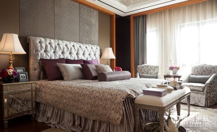 100㎡二居室欧式风格卧室背景墙装修图片欧式风格床头灯图片