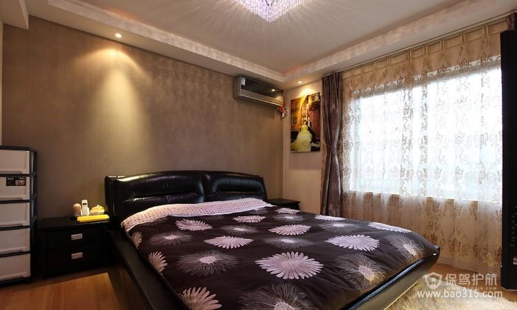 100㎡二居室现代风格卧室背景墙装修效果图-现代风格床头柜图片