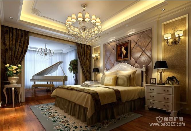 欧式风格别墅60平卧室软装效果图