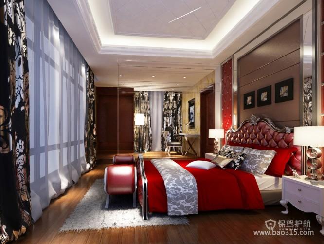 美式风格别墅卧室软装效果图