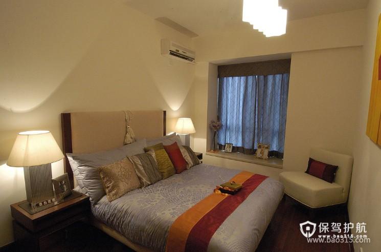 120㎡大户型现代风格婚房卧室装修效果图-现代风格单人沙发图片