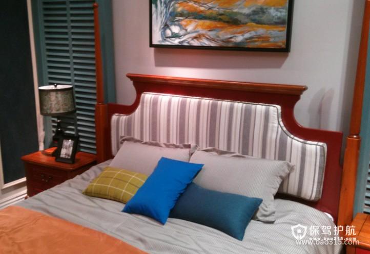 120㎡大户型美式乡村风格婚房卧室装修图片