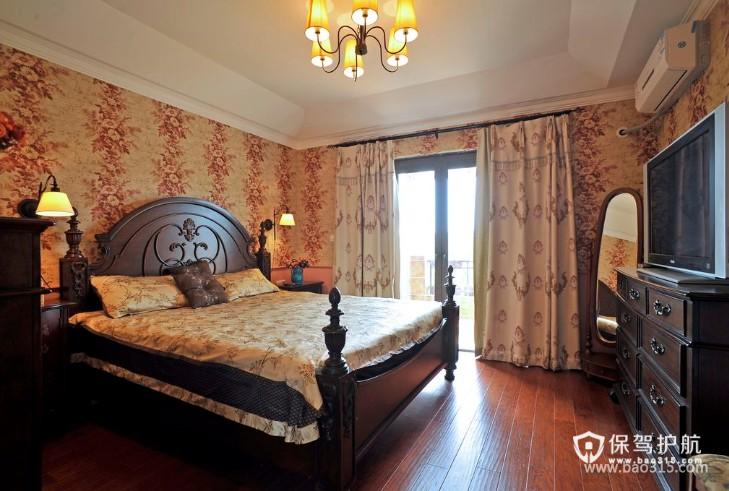 120㎡大户型欧式风格卧室背景墙装修效果图-欧式风格抽屉柜图片