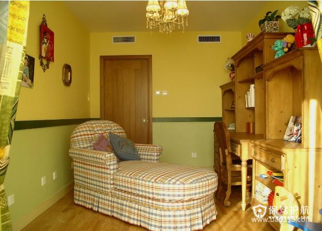 120㎡大户型田园风格书房装修效果图-田园风格单人沙发图片