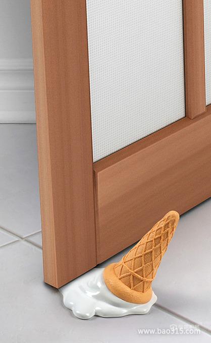 创意家居:可爱甜筒造型门挡