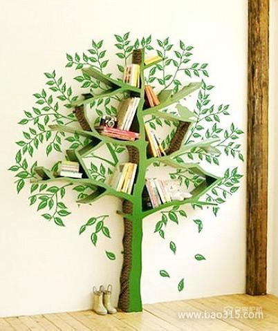 """生活需要创意,让书本""""长""""在树上"""