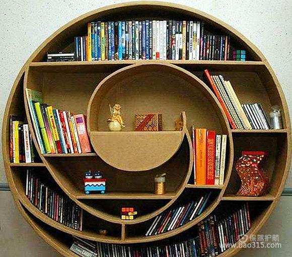 创意家居:音符书柜诠释混搭艺术