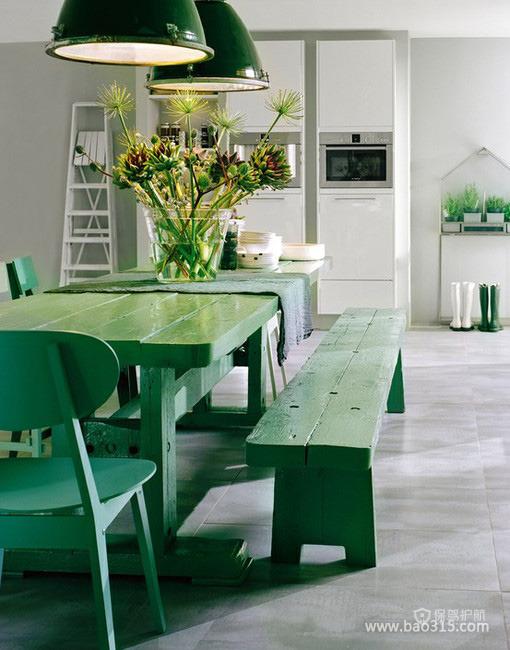 绿色餐厅效果图