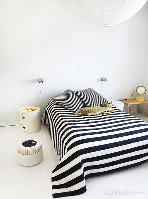 简约风格装点下的美床效果图