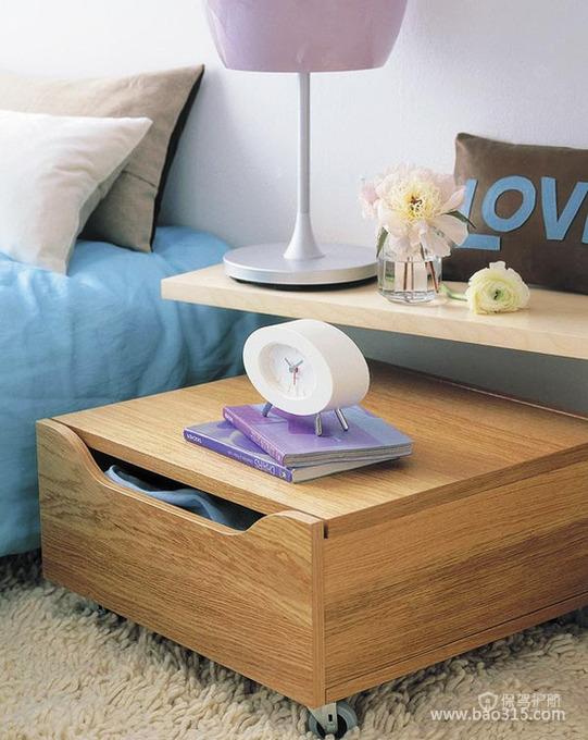 可以移动的榻榻米床头柜