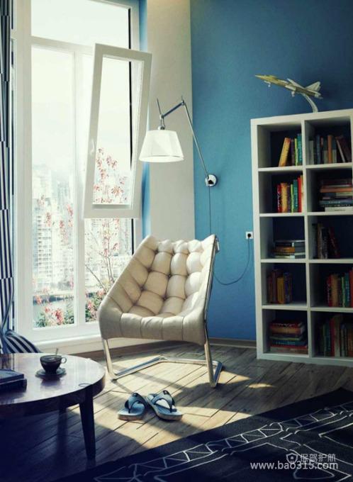 地中海风格两室两厅客厅典雅装修效果图