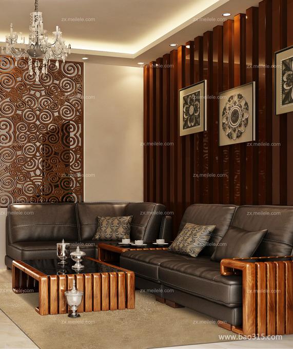 大方稳重的中式客厅设计