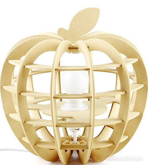 创意家居:当苹果巧遇台灯