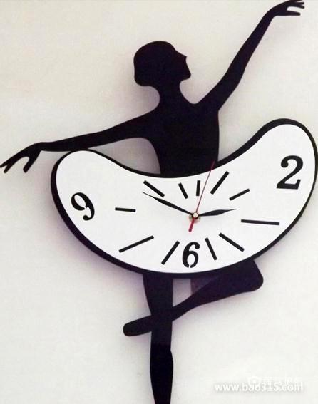 """创意家居:""""翩翩起舞""""的优雅挂钟"""