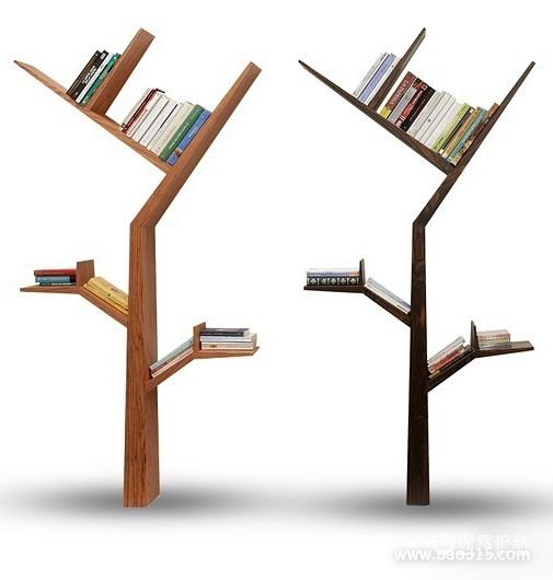 """创意十足的""""树型""""书架"""