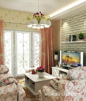 韩式田园客厅温馨与自然并重
