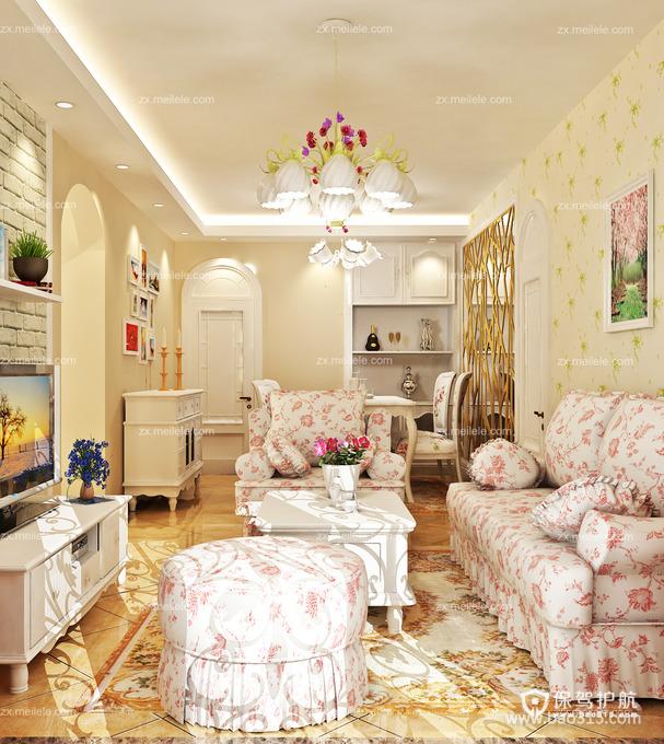 温馨美家源于清新韩式客厅