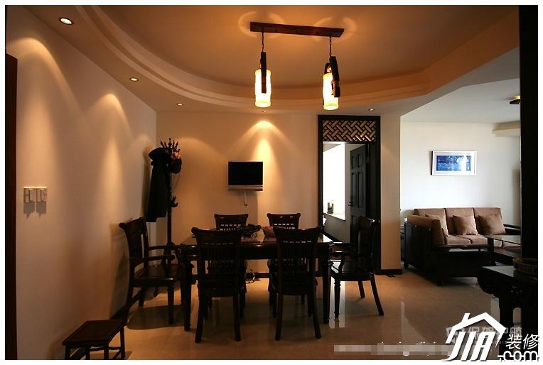 四室一厅现代中式风格50平餐厅装修效果图