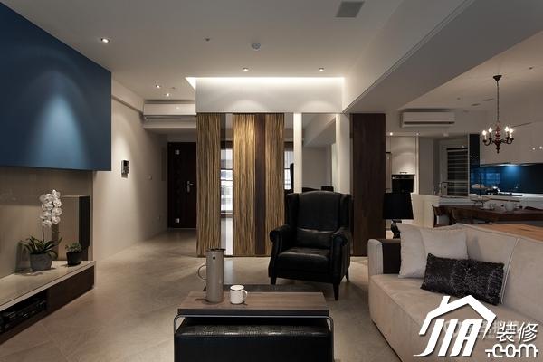 大气简约风 纯洁可人小户型 小户型装修,一居室装修,富裕型装修,简约风格,冷色调装修,时尚,客厅,沙发,茶几,隔断