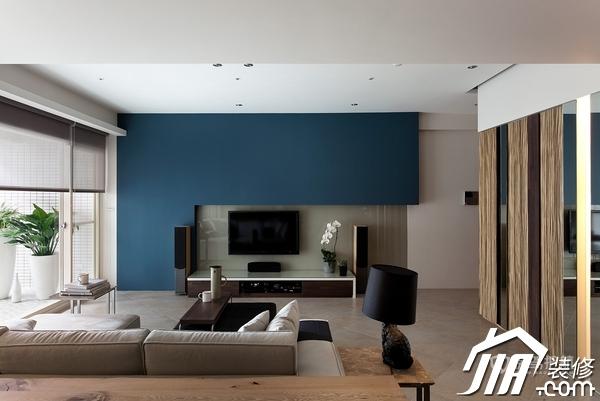大气简约风 纯洁可人小户型 小户型装修,一居室装修,富裕型装修,简约风格,冷色调装修,时尚,客厅,电视背景墙,隔断