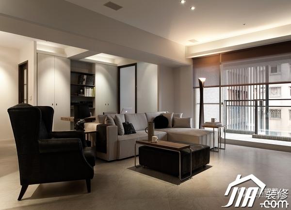 大气简约风 纯洁可人小户型 小户型装修,一居室装修,富裕型装修,简约风格,冷色调装修,时尚,客厅,沙发,茶几