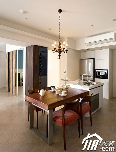 大气简约风 纯洁可人小户型 小户型装修,一居室装修,富裕型装修,简约风格,冷色调装修,时尚,餐厅,灯具,餐桌
