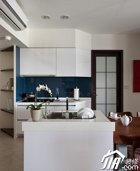 大气简约风 纯洁可人小户型 小户型装修,一居室装修,富裕型装修,简约风格,冷色调装修,时尚,厨房